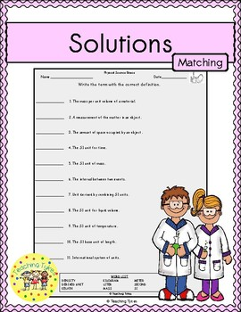 Solutions Matching