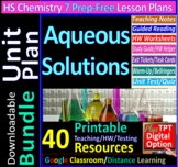 Solutions - Organized and Engaging Worksheets for High School Chemistry