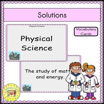 Solutions Vocabulary Cards
