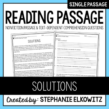 Solutions Reading Passage