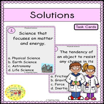 Solutions Task Cards