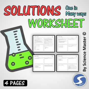 Solutions Worksheet One in Many Ways