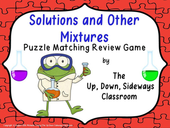 Solutions and Other Mixtures Puzzle Matching Review Game