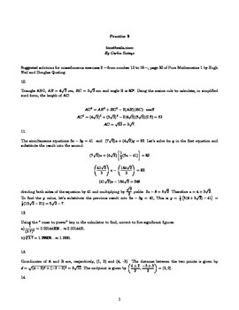 Solutions for miscellaneous exercises 2 page 30 of Pure Mathematics 1