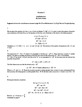 Solutions for miscellaneous exercises 4 page 62 of Pure Mathematics 1