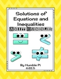 Solutions of Equations and Inequalities Bundle-6.EE.5
