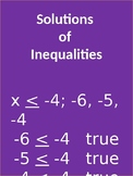 Solutions of Inequalities