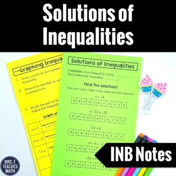 Solutions of Inequalities Notes