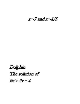 Solutions of Quadratics Scavenger Hunt