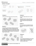 """Solutions to """"Fun with Cubes and Spatial Thinking"""" Activity Book"""