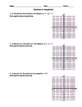 Solutions to Inequalities 1