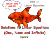 Solutions to Linear Equations (One, None and Infinite Solutions)