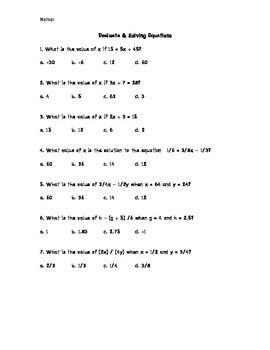 Solve 2-step Equations Symbolically and Graphically