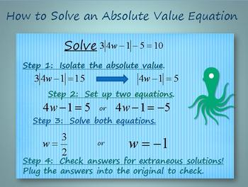 Solve Absolute Value Equations:  PowerPoint