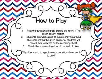 Solve Around the Room: Fraction Word Problems