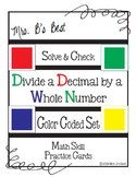 Solve & Check Color Coded: Divide a Decimal by a Whole Number