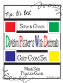 Solve & Check Color Coded: Division Patterns with Decimals