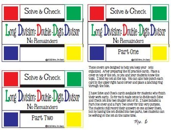 Solve & Check Color Coded: Long Division: Double-Digit Divisors no Remainders