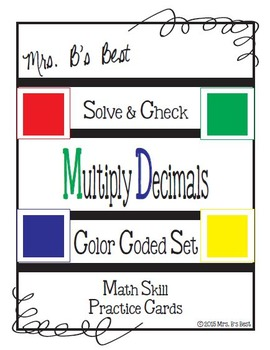 Solve & Check Color Coded: Multiply Decimal Numbers