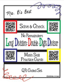 Solve & Check with QR Codes: Long Division: Double-Digit Divisor no Remainders