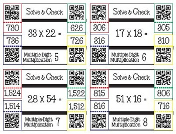 Solve & Check with QR Codes: Multiple-Digit Multiplication