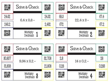 Solve & Check with QR Codes: Multiply Decimals