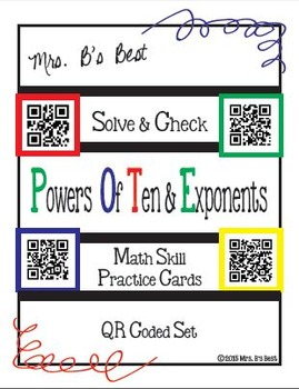 Solve & Check with QR Codes: Powers of Ten & Exponents