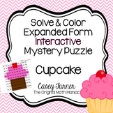 Solve & Color Expanded Form Interactive Math Puzzle with N