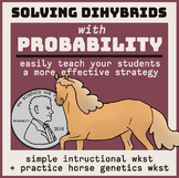 Solve Dihybrids with Probability! Self-Guided Worksheet &