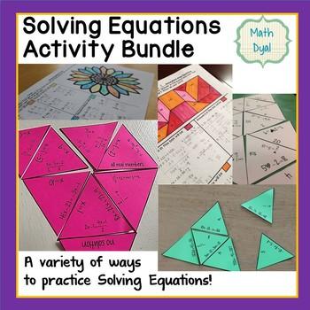 Solve Equations Activity Bundle
