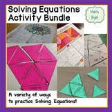 Solve Equations Activity Bundle