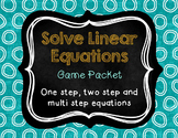 Solve Linear Equations Game Packet