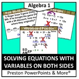 (Alg 1) Solving Equations with Variables on Both Sides in a PowerPoint
