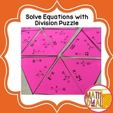 Solve Equations With Division Puzzle