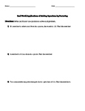 Solve Equations by Factoring Word Problems