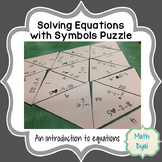 Solve Equations with Symbols Puzzle