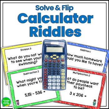 Math Fun Calculator Riddles Solve & Flip