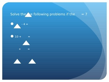 Solve For The Unknown Numbers