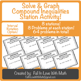 Solve & Graph Compound Inequalities Station Activity! (with Interval Notation)