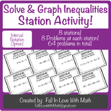 Solve & Graph Inequalities Station Activity!