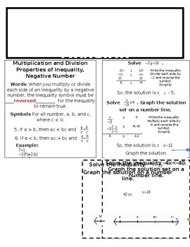 Solve Inequalities by Multiplication or Division