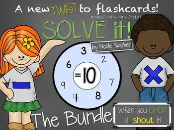 Solve It!!! A new TWIST on Flashcards! BUNDLE +, -, x, ÷