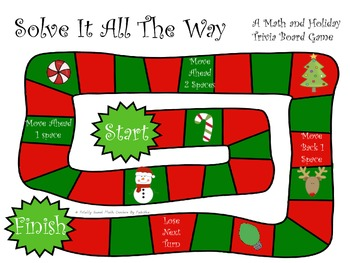 Solve It All The Way- A Math & Holiday Trivia Board Game Gr. 3