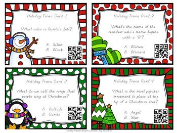 Solve It All The Way- A Math & Holiday Trivia Board Game Gr. 3 QR edition