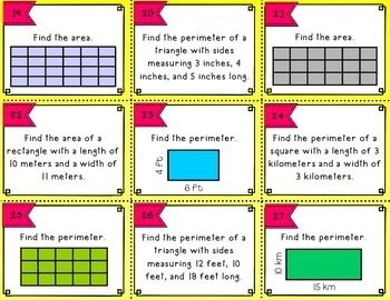 Solve It! - An Area and Perimeter Board Game