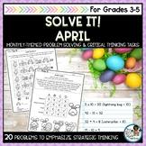 Solve It! April: Spring Math Problem Solving Pack #SPRINGSAVINGS