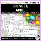 Solve It! April: Spring Math Problem Solving and Critical