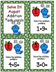 Solve It! August Addition Task Cards with QR Codes