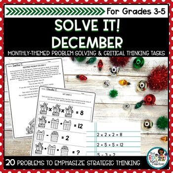 Solve It! December: Problem Solving and Critical Thinking Pack