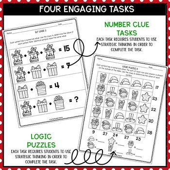 Solve It! December: Holiday Math and Problem Solving Activities Pack